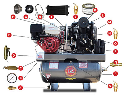 8 15 Hp Gas Diesel Compressor Parts Built Before 11 30 2012 Compressed Air Systems