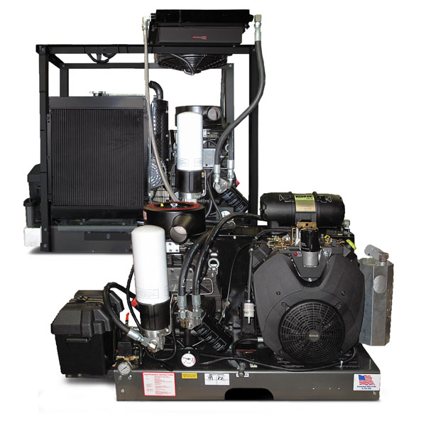 125 cfm Gas/140 cfm Diesel Engine Driven Rotary Screw
