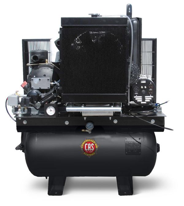40 cfm Gas or Diesel Rotary Screw Compressor/Generator